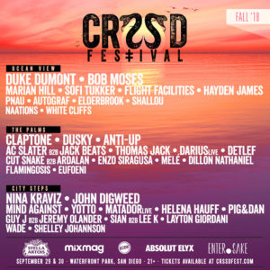 Duke Dumont, Nina Kraviz, John Digweed, and more head CRSSD Festival's Fall 2018 lineupBest 2